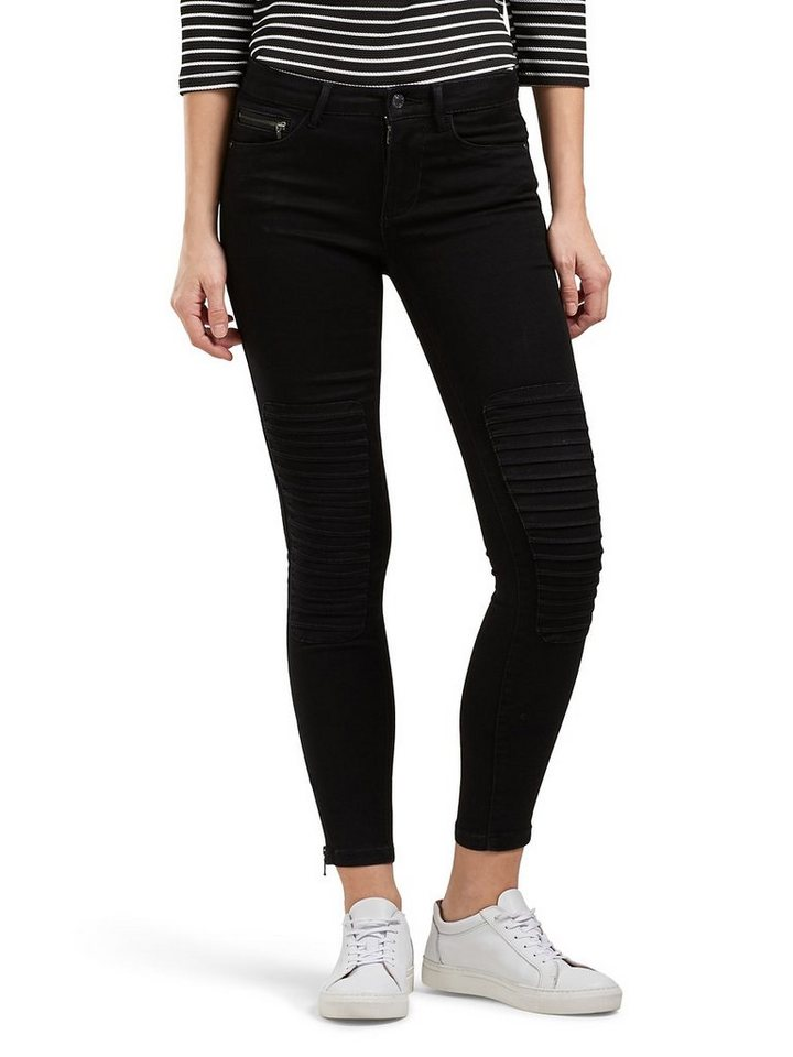 Only Royal reg Knöchel Race- Skinny Fit Jeans in Black