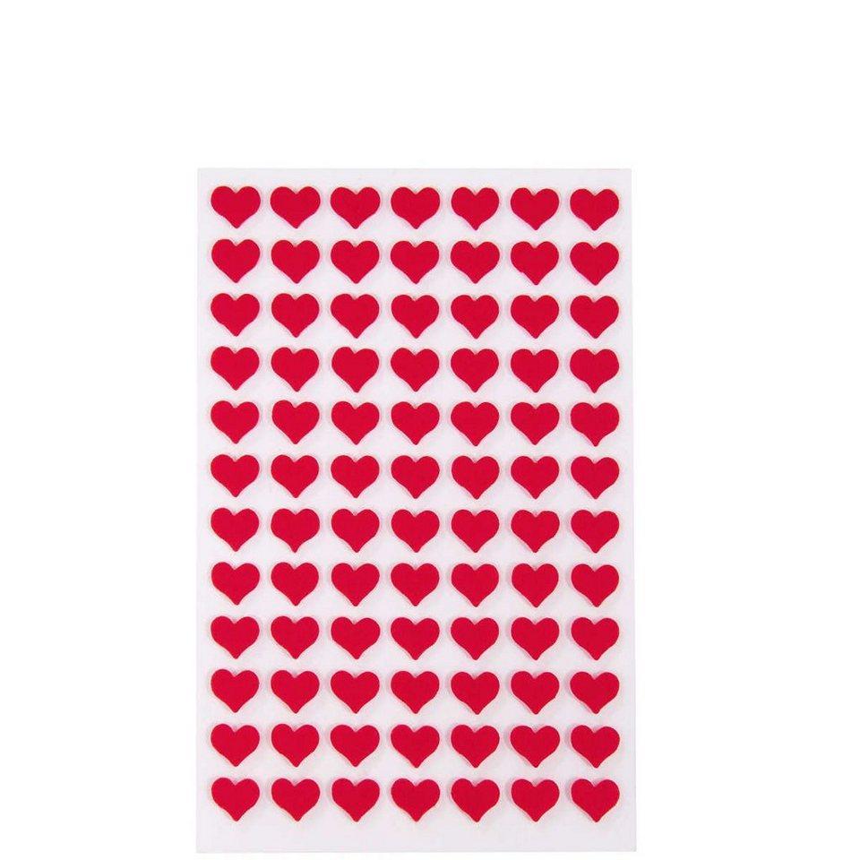 BUTLERS HEARTS »Sticker Herzen klein« in rot