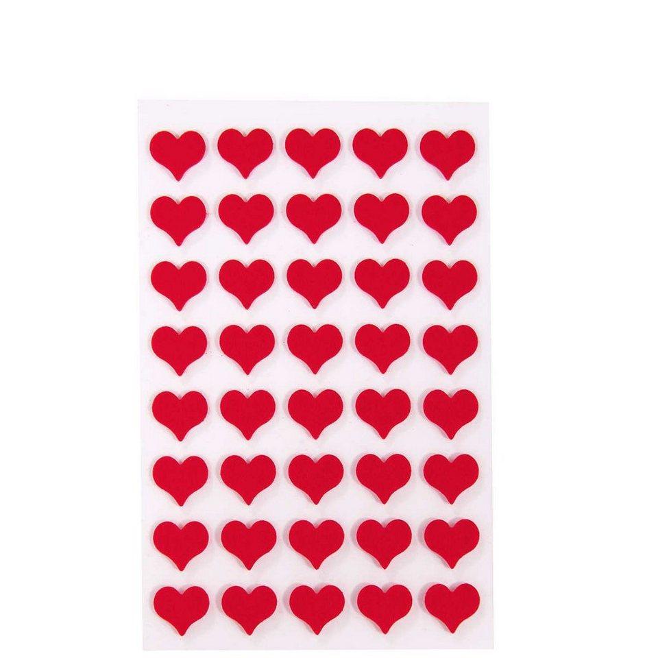 BUTLERS HEARTS »Sticker Herzen groß« in rot