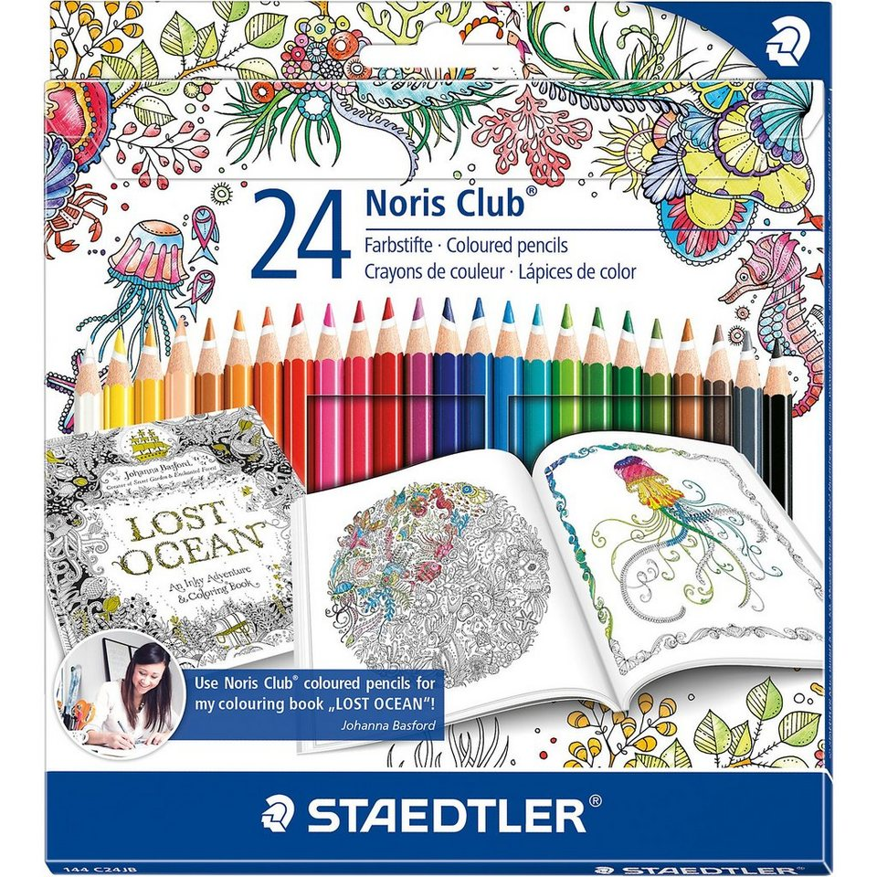 "Staedtler Noris Club Buntstifte Sonderedition ""Johanna Basford"", 24 Fa"