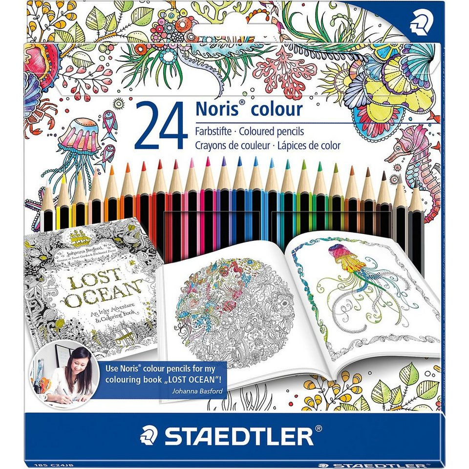 """Staedtler Noris colour Buntstifte Sonderedition""""Johanna Basford"""", 24 F"""