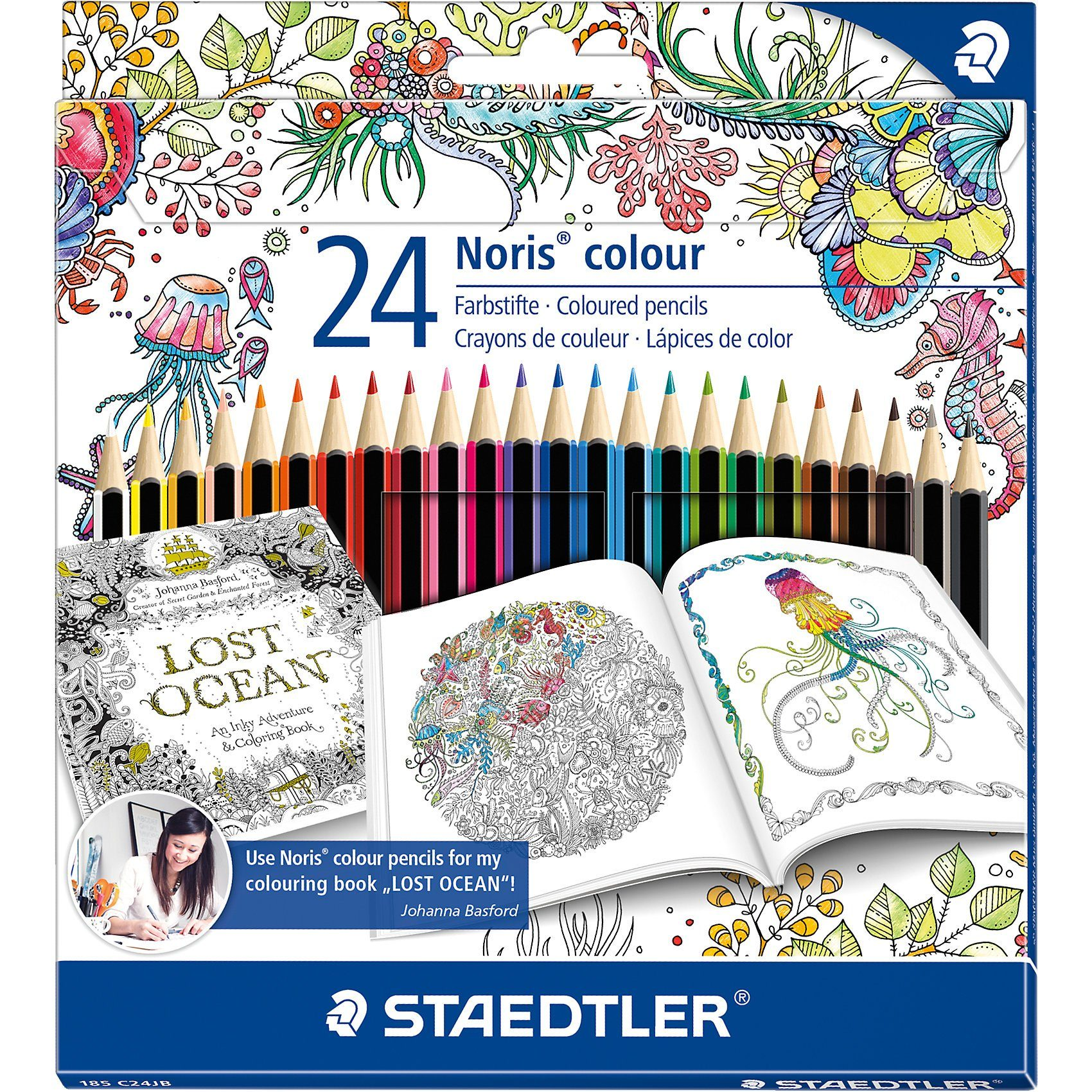 "Staedtler Noris colour Buntstifte Sonderedition""Johanna Basford"", 24 F"