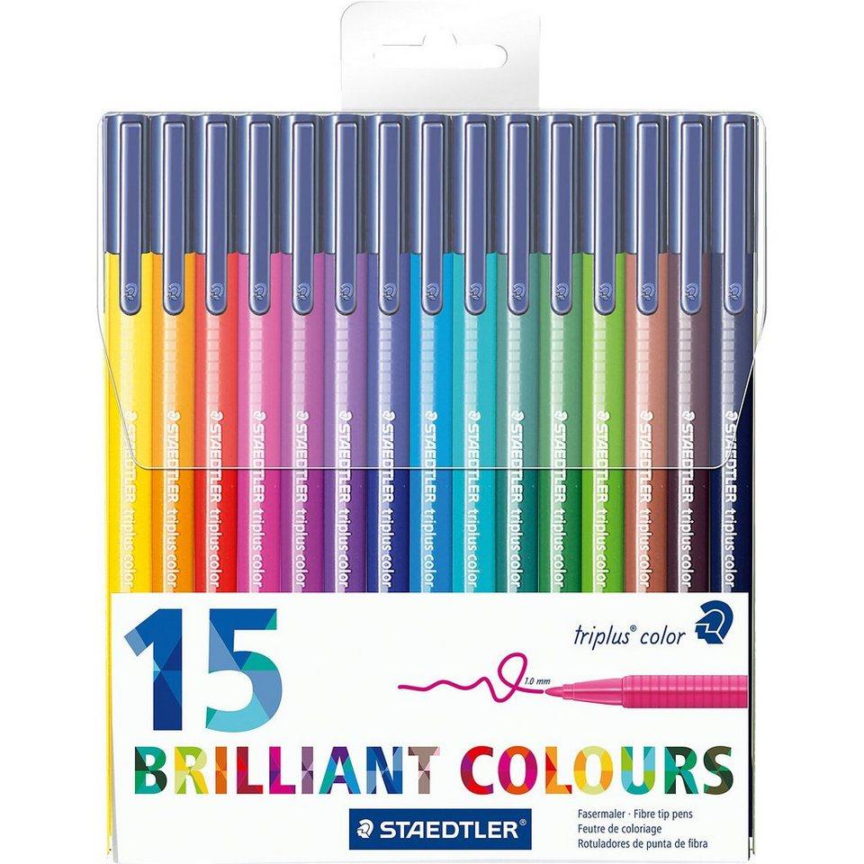 Staedtler Filzstifter triplus color DRY SAFE, 15 Farben