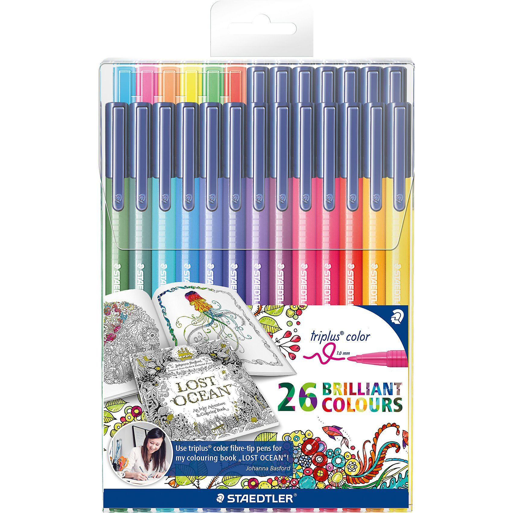 "Staedtler Filzstifte triplus color Sonderedition""Johanna Basford"", 26"