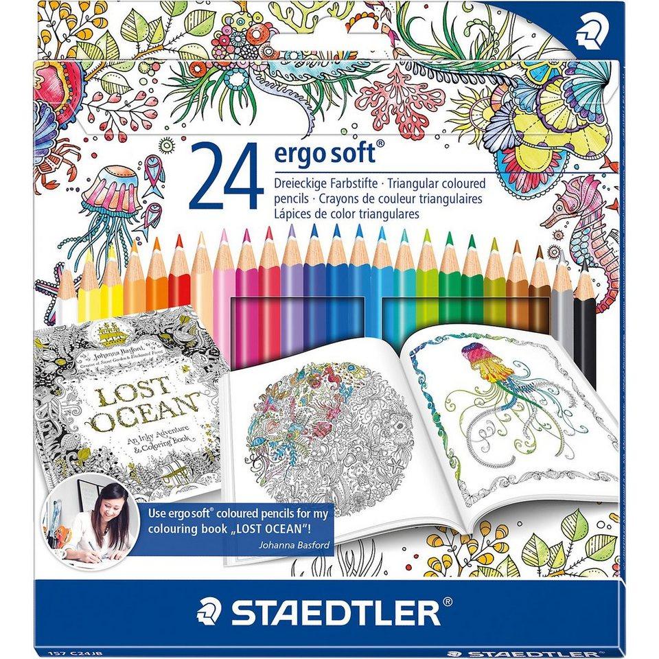 """Staedtler Buntstifte ergosoft Sonderedition """"Johanna Basford"""", 24 Farb"""