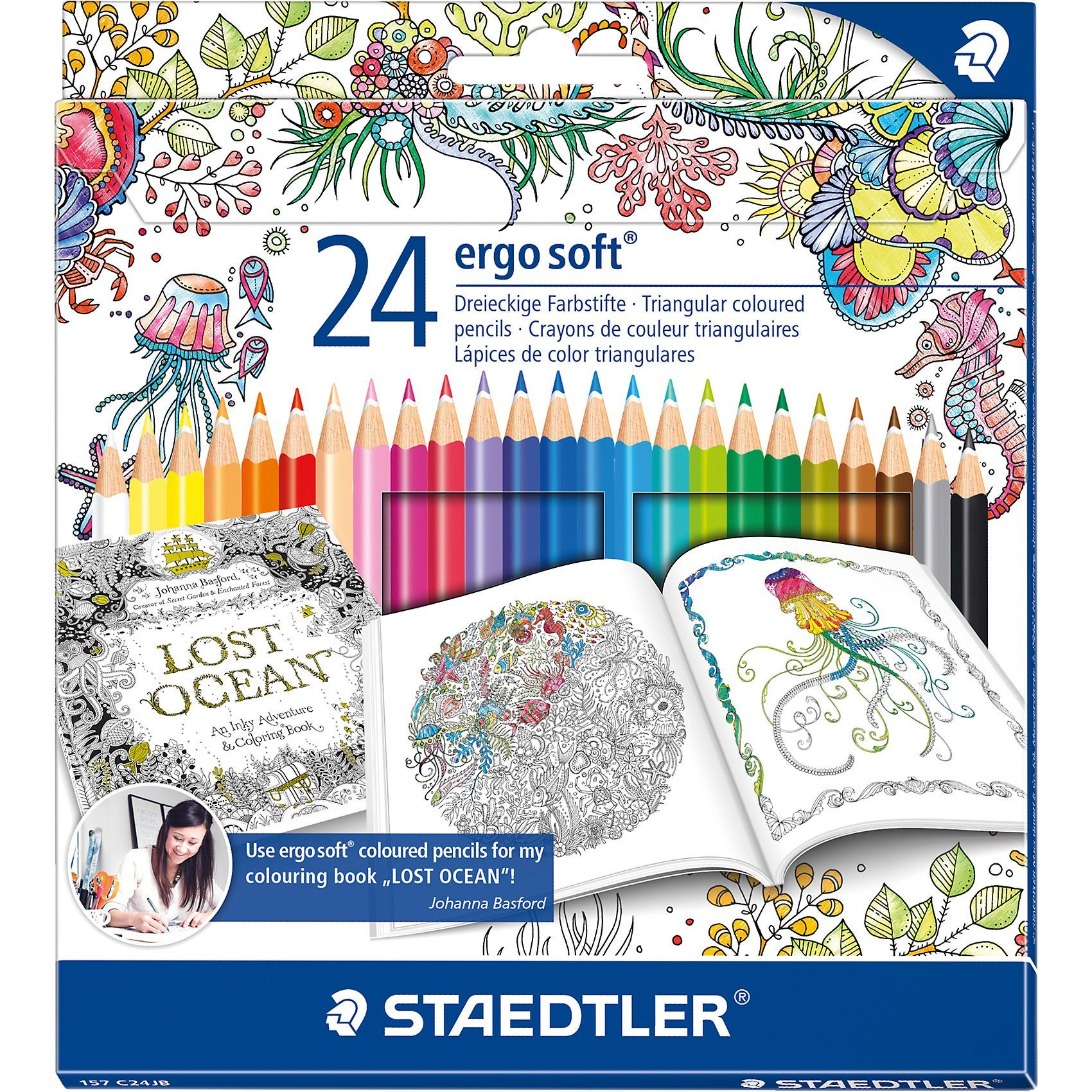 "Staedtler Buntstifte ergo soft Sonderedition ""Johanna Basford"", 24 Far"