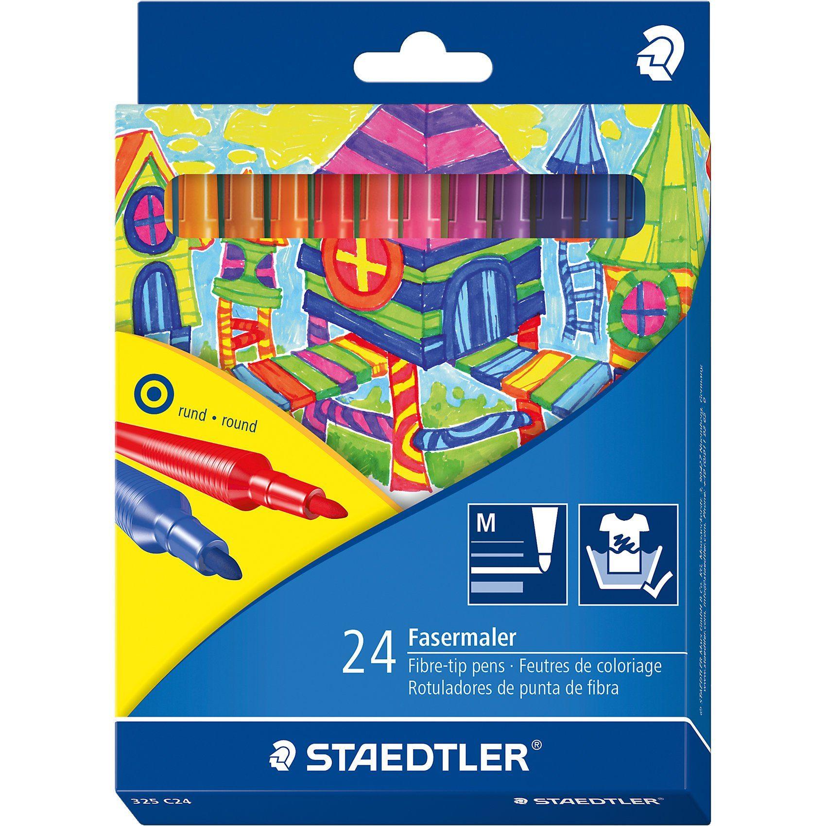Staedtler Noris Club Filzstifte, 24 Farben