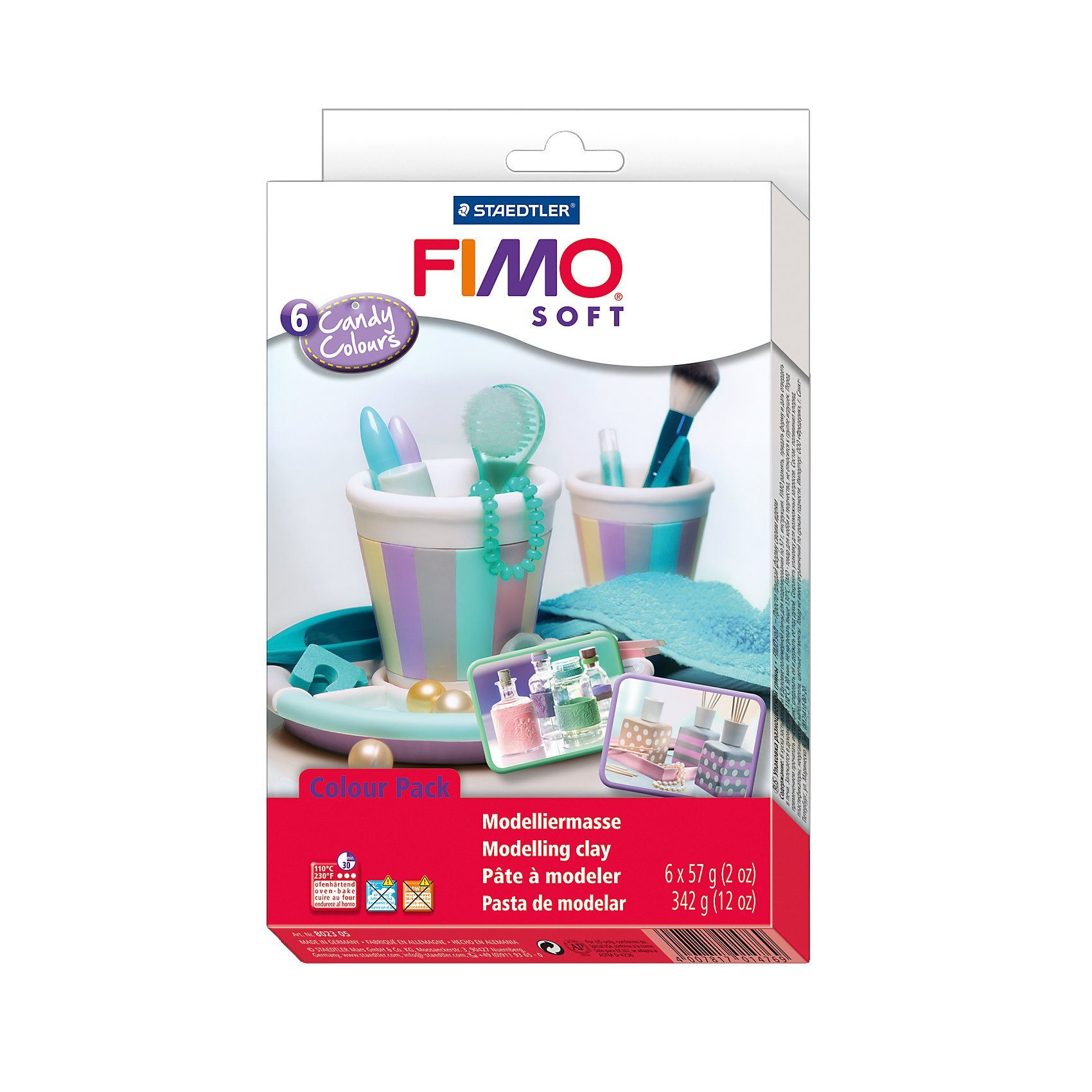 FIMO soft Materialpackung Candy Colours, 6 x 57 g