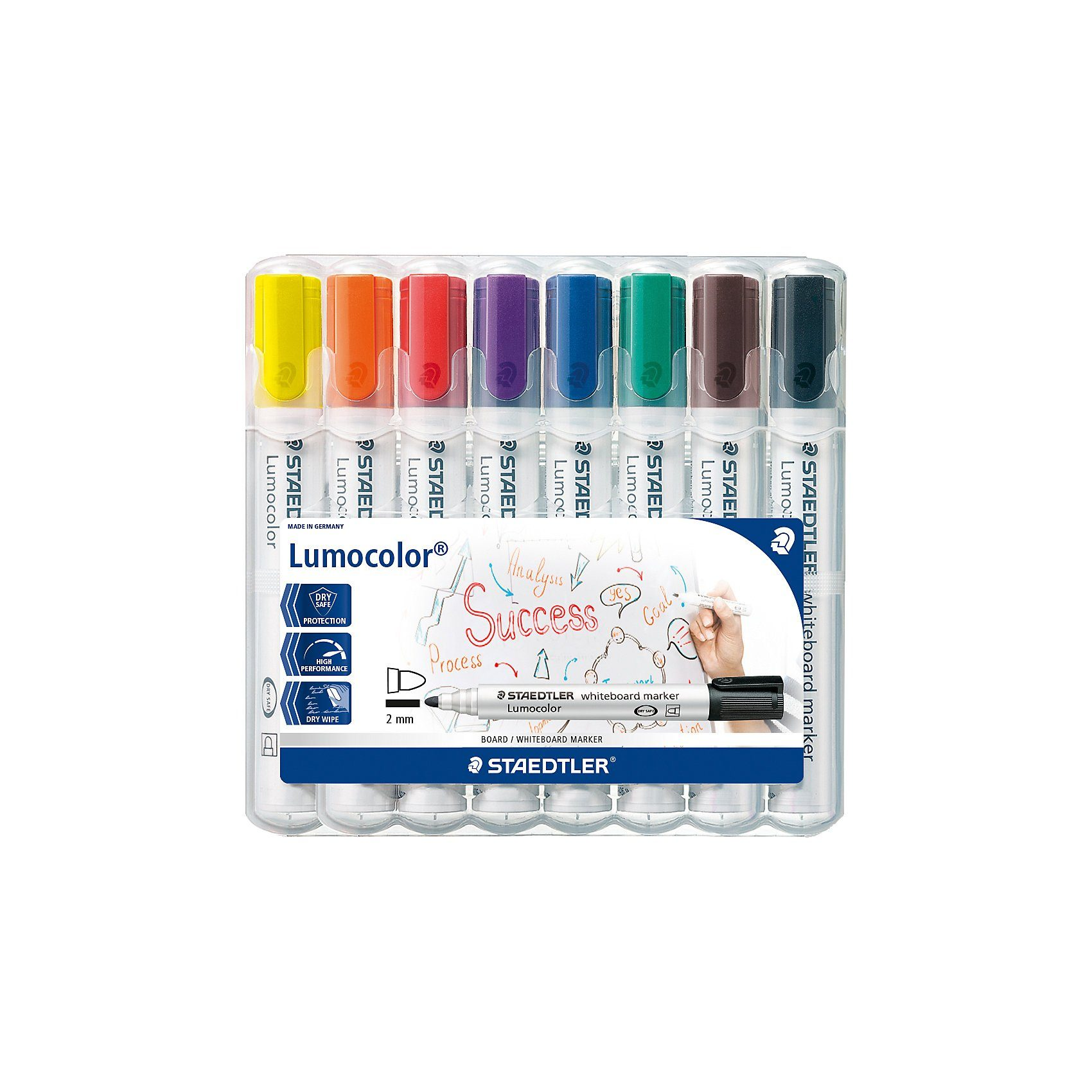 Staedtler Lumocolor Whiteboard Marker 2 mm, 8 Farben