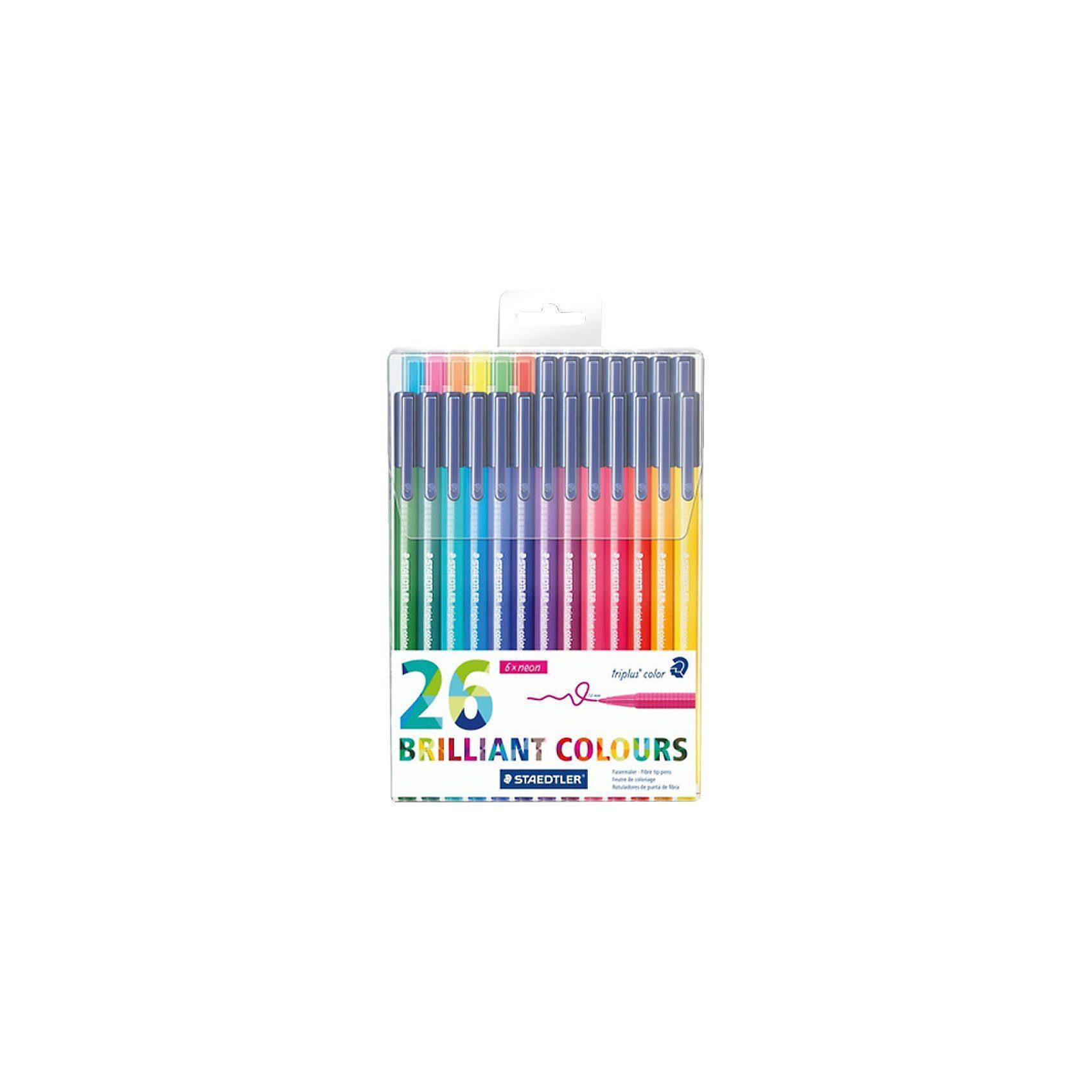 Staedtler Filzstifte triplus color DRY SAFE, 26 Farben