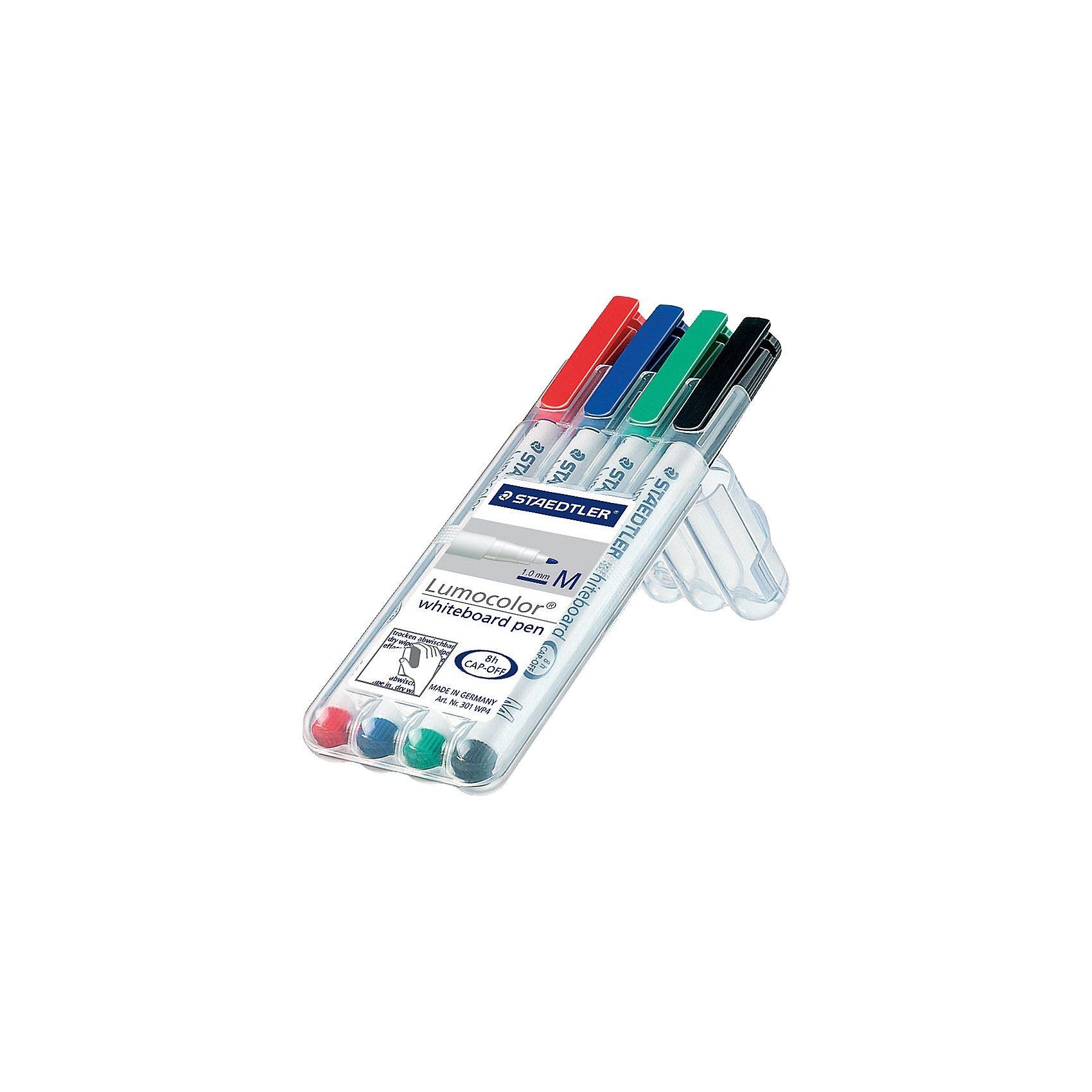 Staedtler Lumocolor Whiteboard Marker 1-2 mm, 4 Farben