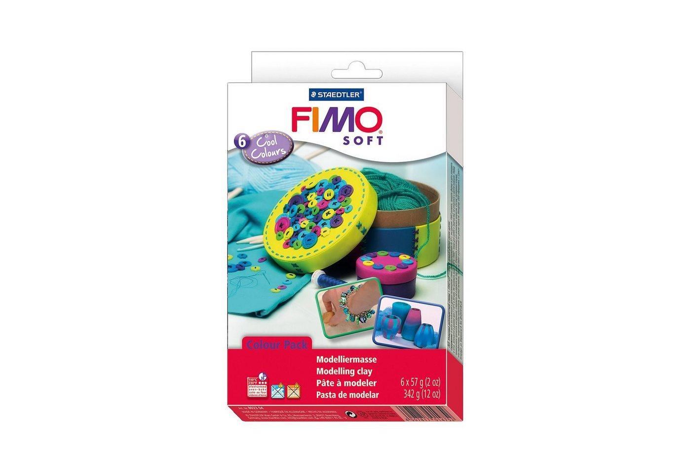 FIMO soft Materialpackung Cool Colours, 6 x 57 g - Preisvergleich