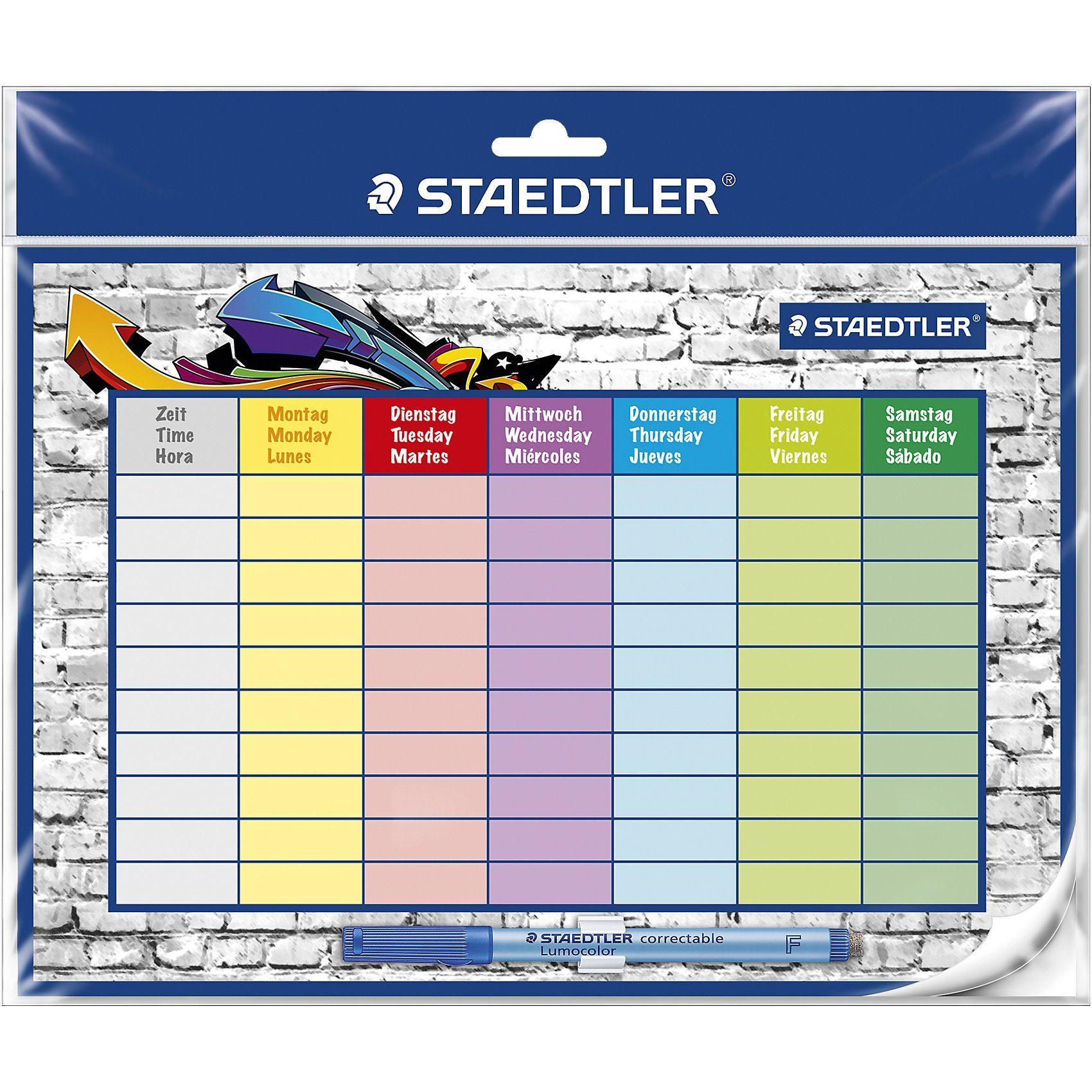 Staedtler Lumocolor correctable Stundenplan
