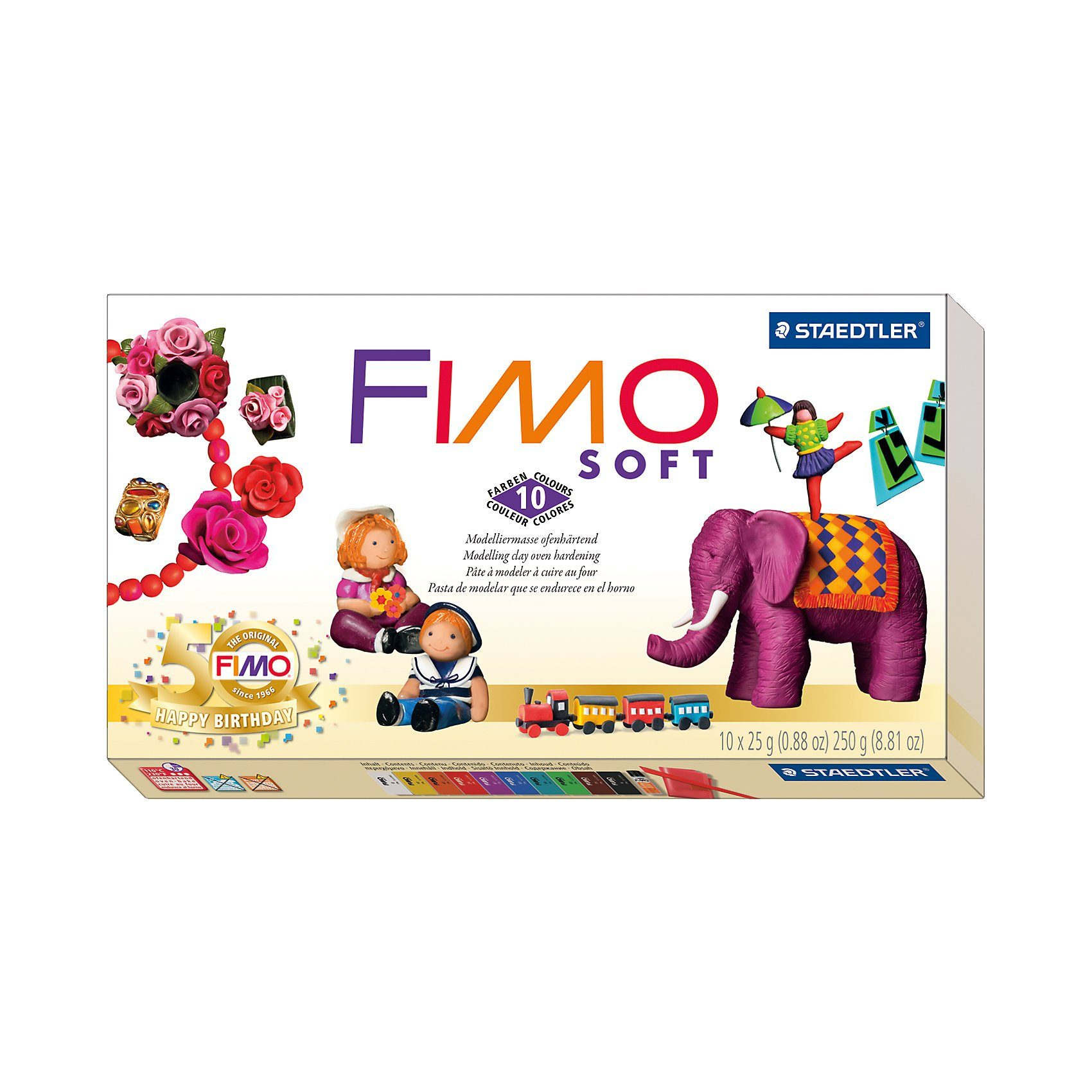 FIMO soft Limited Edition Retro Design, 10 x 25 g
