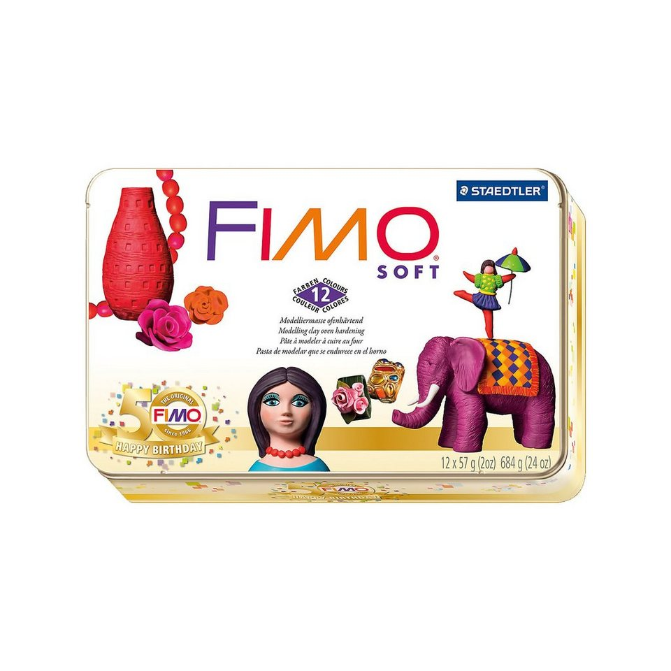FIMO soft Limited Edition Retro Design, 12 x 57 g inMetallbox