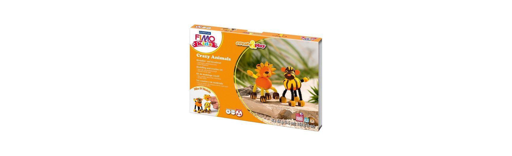 FIMO kids Create & Play Crazy Animals Löwe & Tiger