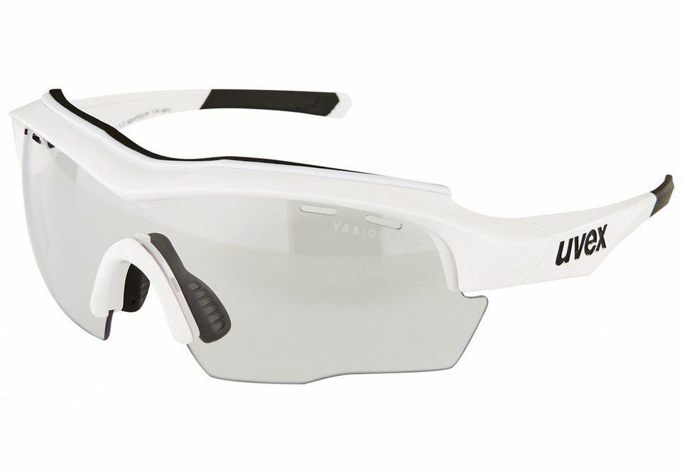 UVEX Radsportbrille »sportstyle 104 vario Brille« in weiß