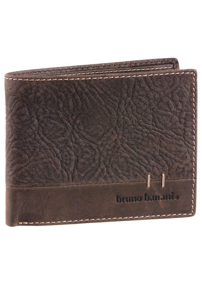 Bruno Banani Geldbörse aus Leder mit Ziernaht