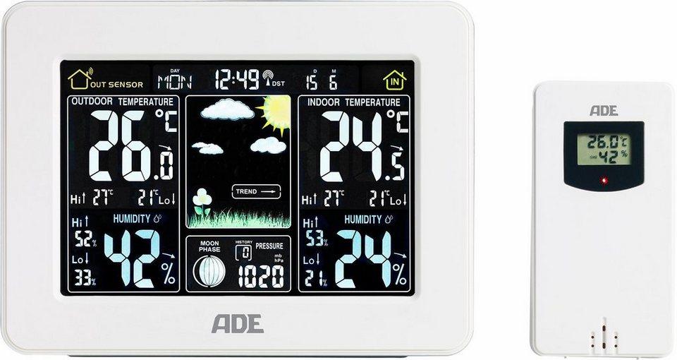 ADE Wetterstation mit Funk-Außensensor »WS1502« in weiß