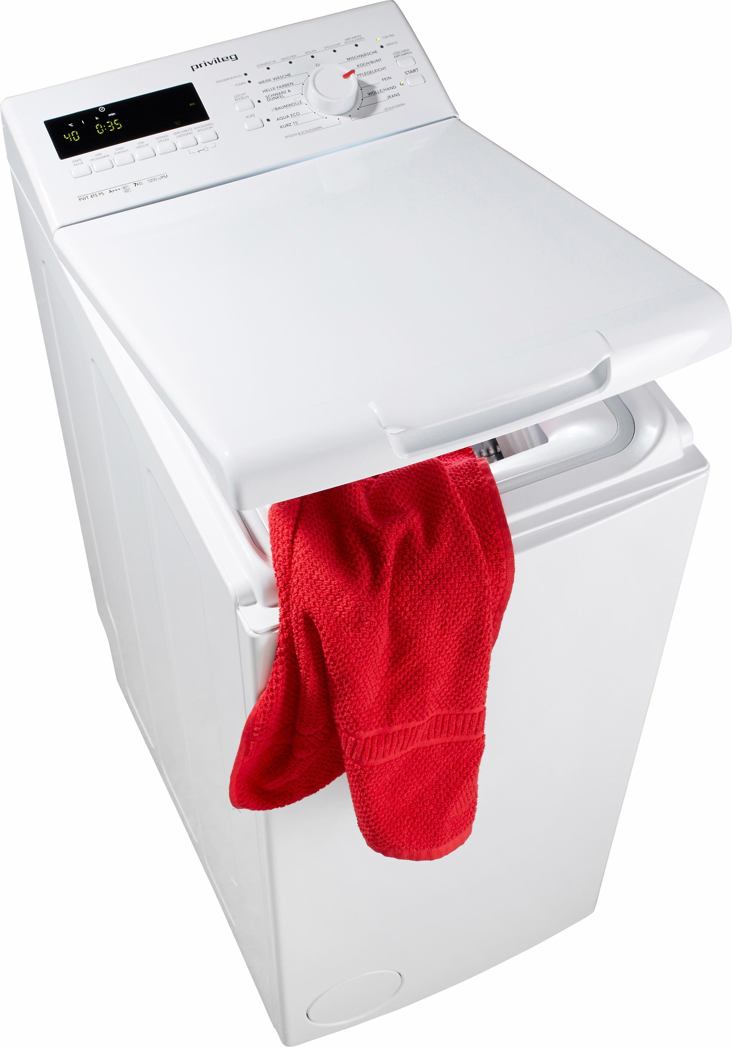 Privileg Waschmaschine Toplader PWT 475 PS, A+++, 7 kg, 1200 U/Min