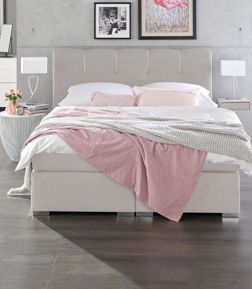 set one by musterring boxspringbett memphis inkl topper in 3 breiten und 10 farben online. Black Bedroom Furniture Sets. Home Design Ideas