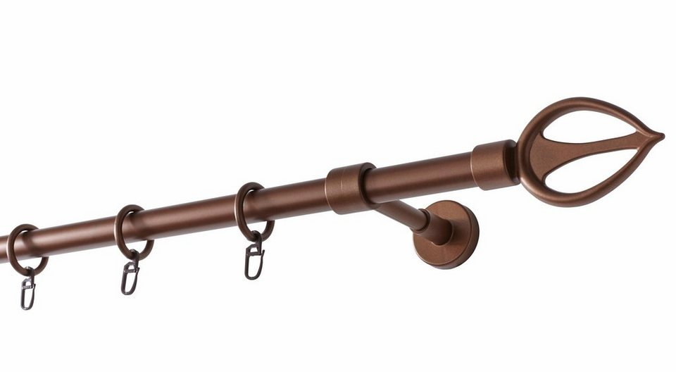 Gardinenstange, Garesa, »Drehna«, nach Maß ø 20 mm in bronzefb.