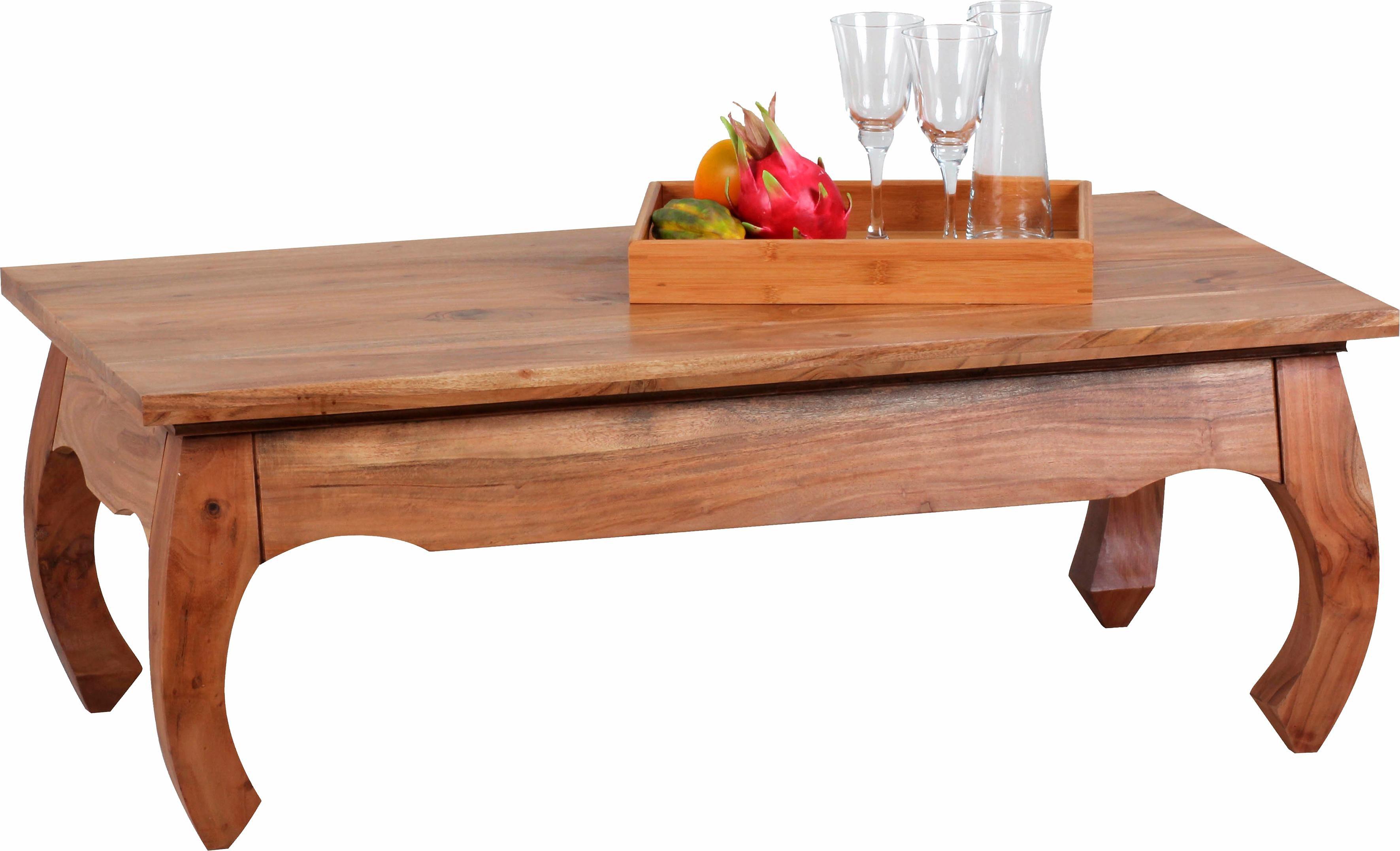 Home affaire Couchtisch »Opium«, 110 cm breit, aus massivem Akazienholz