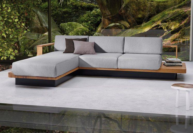 ADA premium Ecksofa »HUDSON«, mit eleganten Massivholz-Elementen