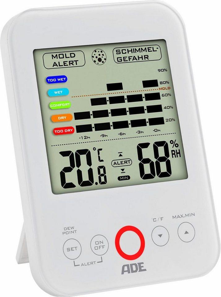ADE Hygrometer mit Schimmelalarm »WS1500« in weiß