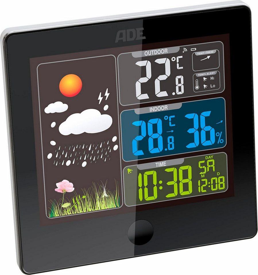 ADE Wetterstation mit Funk-Außensensor »WS1403« in schwarz