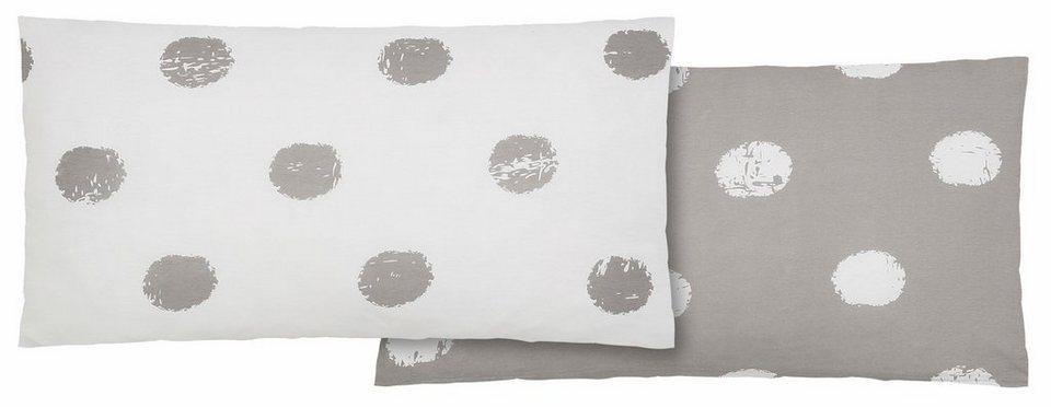 Kissenbezug, Home affaire Collection, »Perie«, mit melierten Punkten in grau-weiß