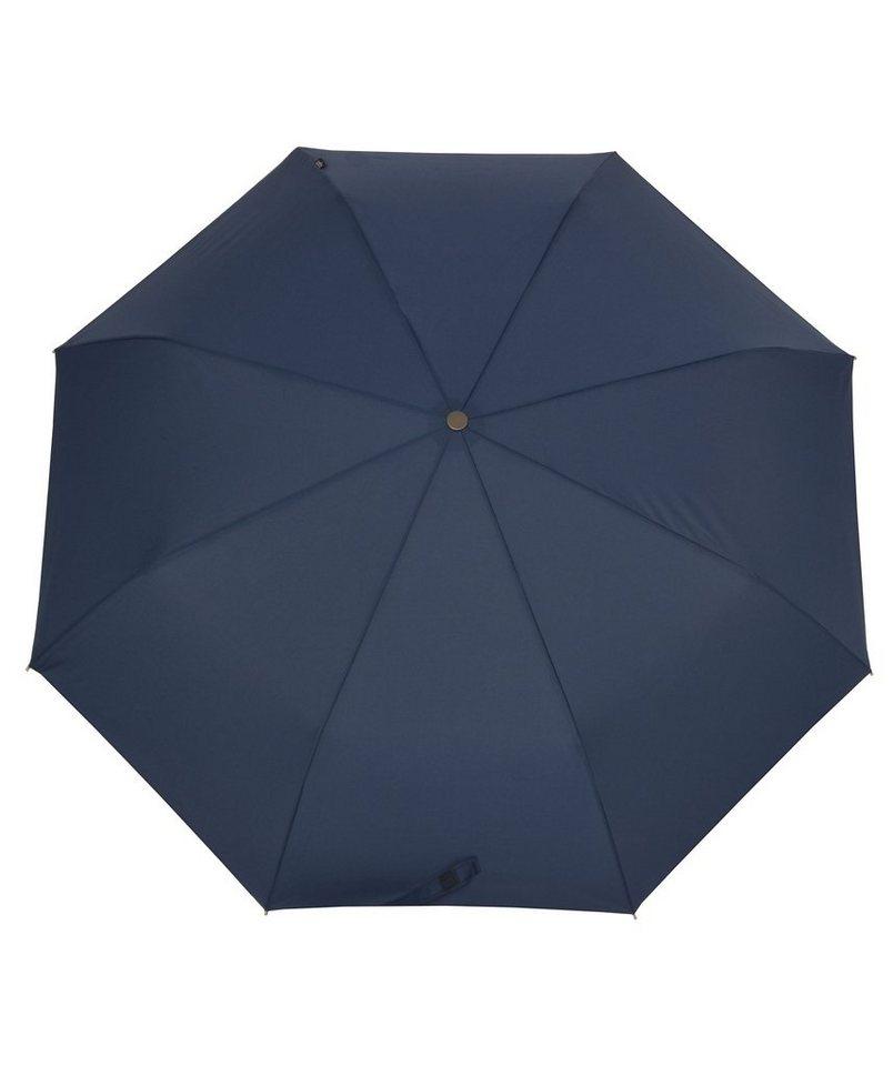 Bugatti Regenschirm, »Taschenschirm TURISMO FLAT« in blau