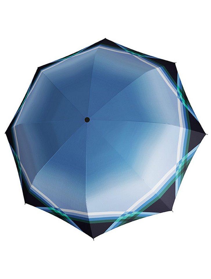 Doppler Stockschirm, Langschirm »CARBONSTEEL - Cross Over«, blau in blau