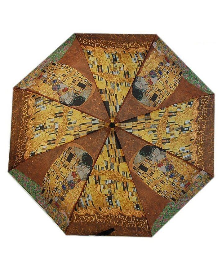 Doppler Regenschirm, »Langschirm Der Kuss« in braun/gold