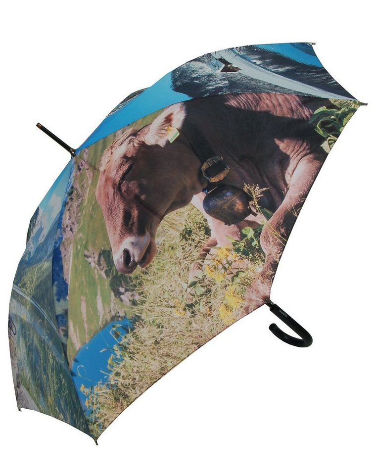 Doppler Regenschirm, »Langschirm Almrausch« in bunt