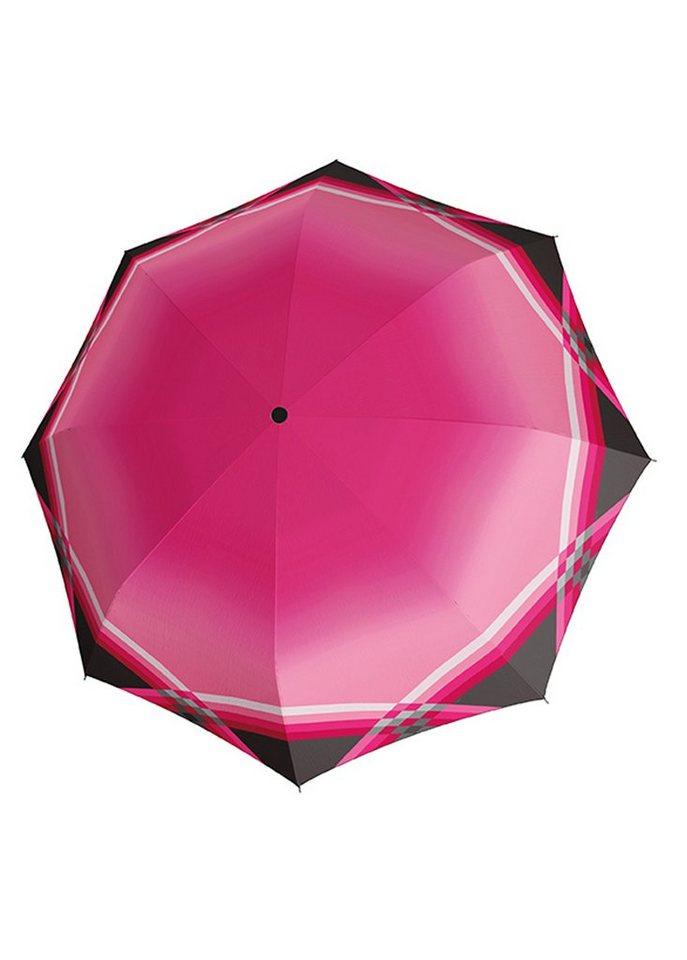 Doppler Regenschirm, Langschirm »CARBONSTEEL - Cross Over« in pink