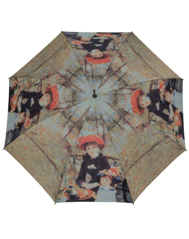Doppler Regenschirm, »Langschirm Zwei Schwestern« in beige/schwarz