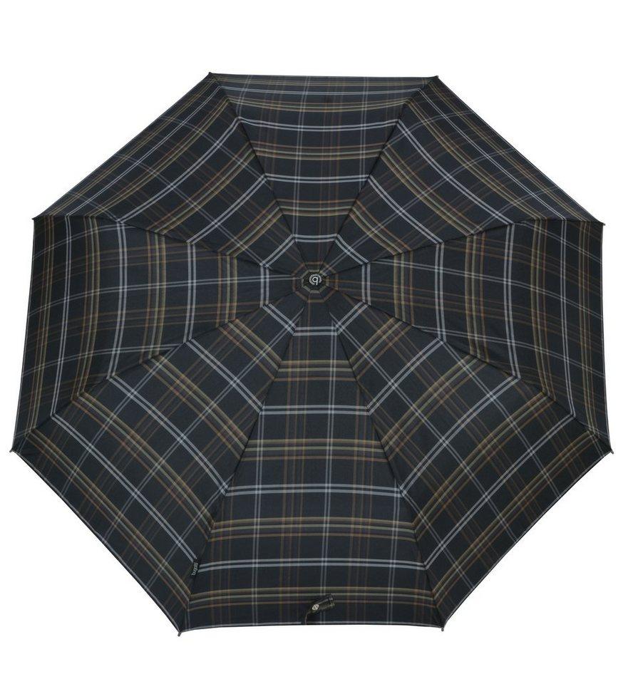 Bugatti Regenschirm, »Taschenschirm GRAN TURISMO« in karo oliv