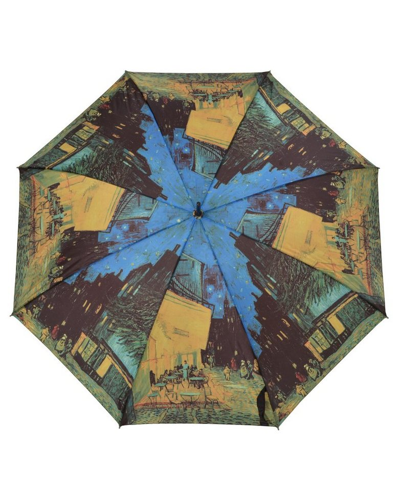 Doppler Regenschirm, »Langschirm Cafeterrasse« in gold/blau