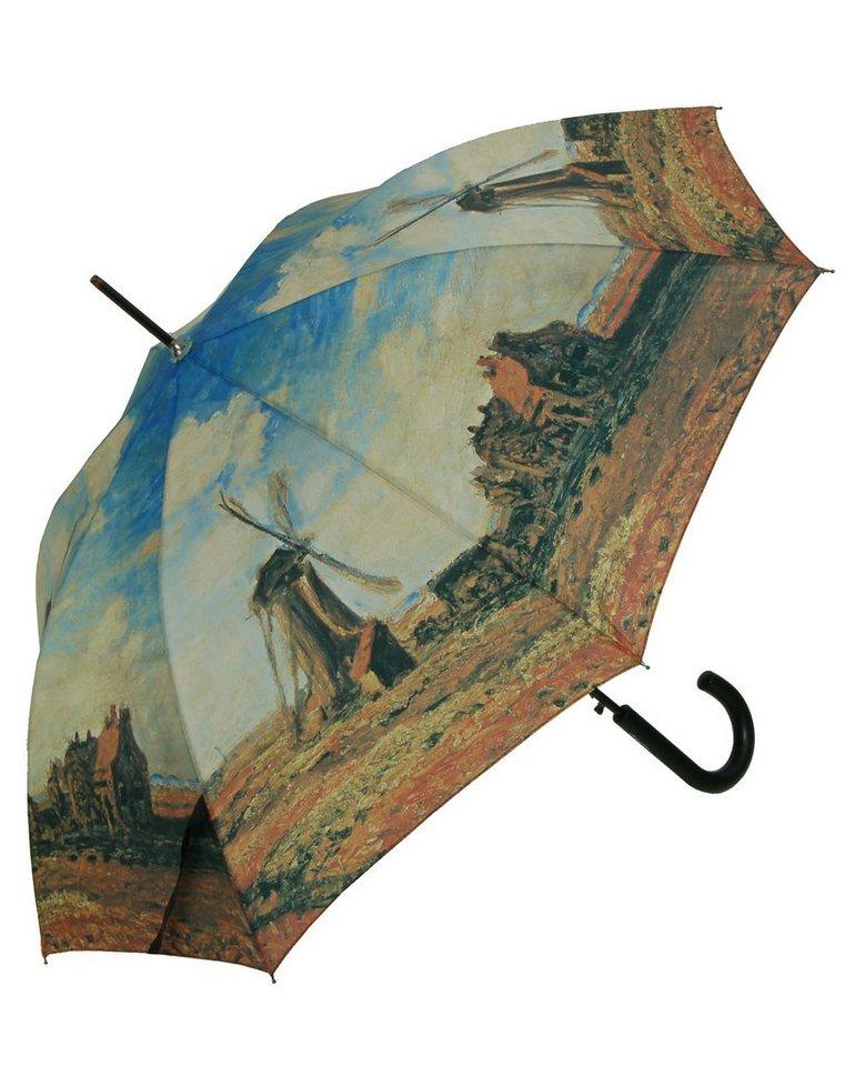 Doppler Regenschirm, »Langschirm Windmühle« in terra/blau