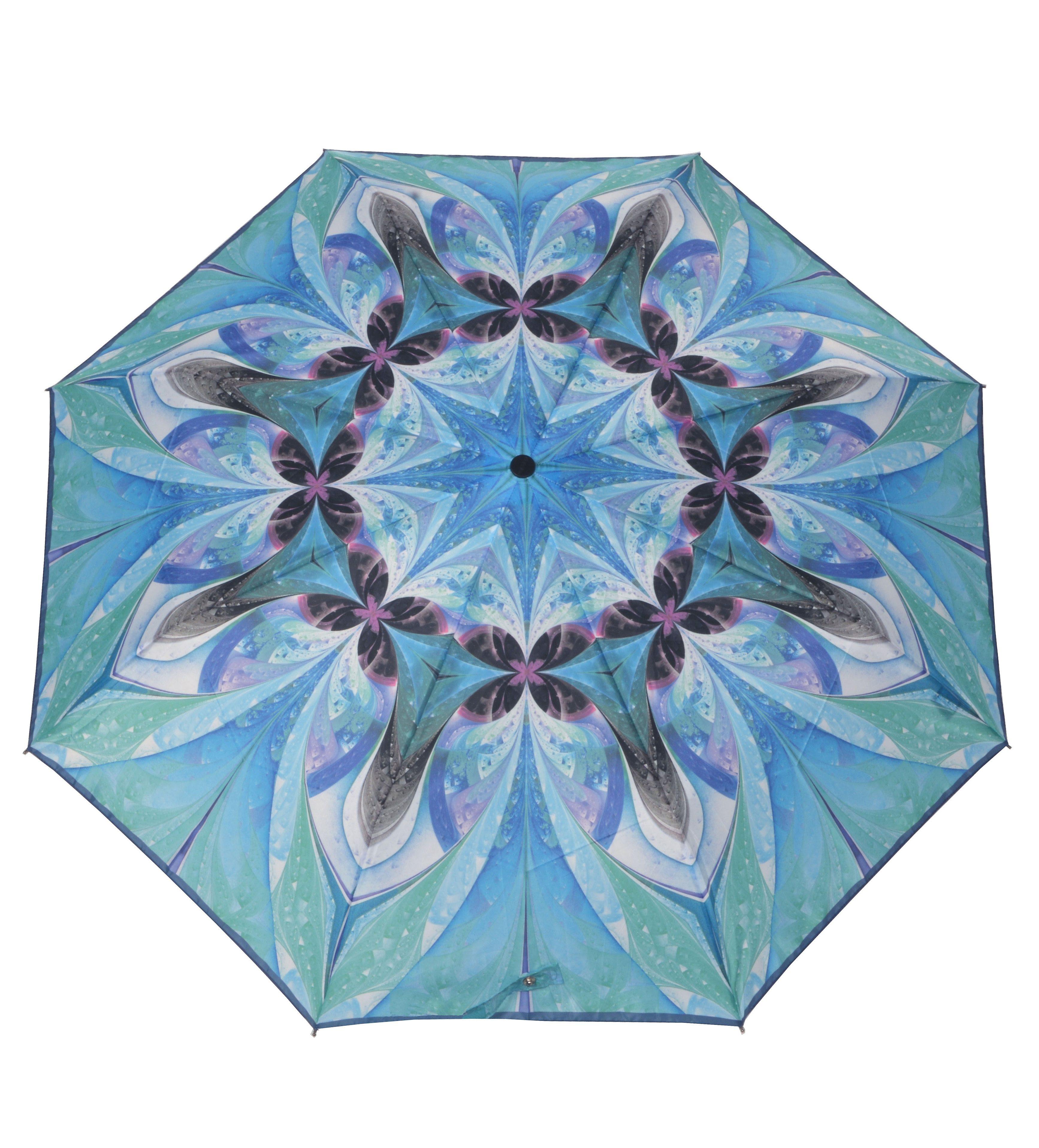 doppler® Regenschirm, Taschenschirm blau »Magic Carbonsteel Molcecule«