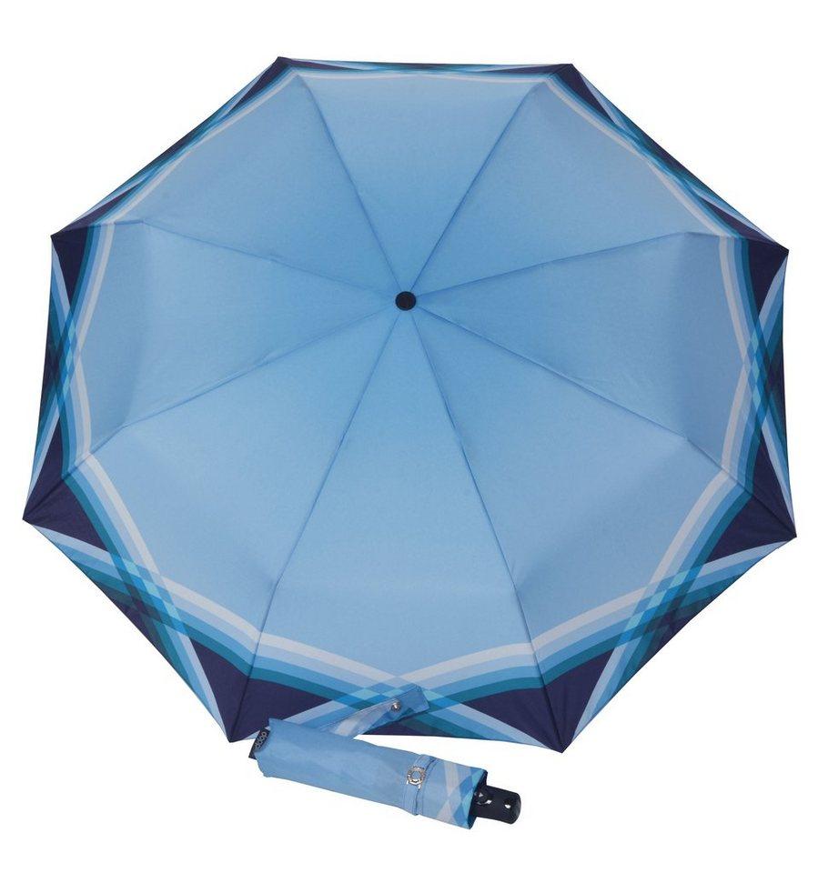 Doppler Regenschirm, Taschenschirm »CARBONSTEEL - Cross Over« in blau