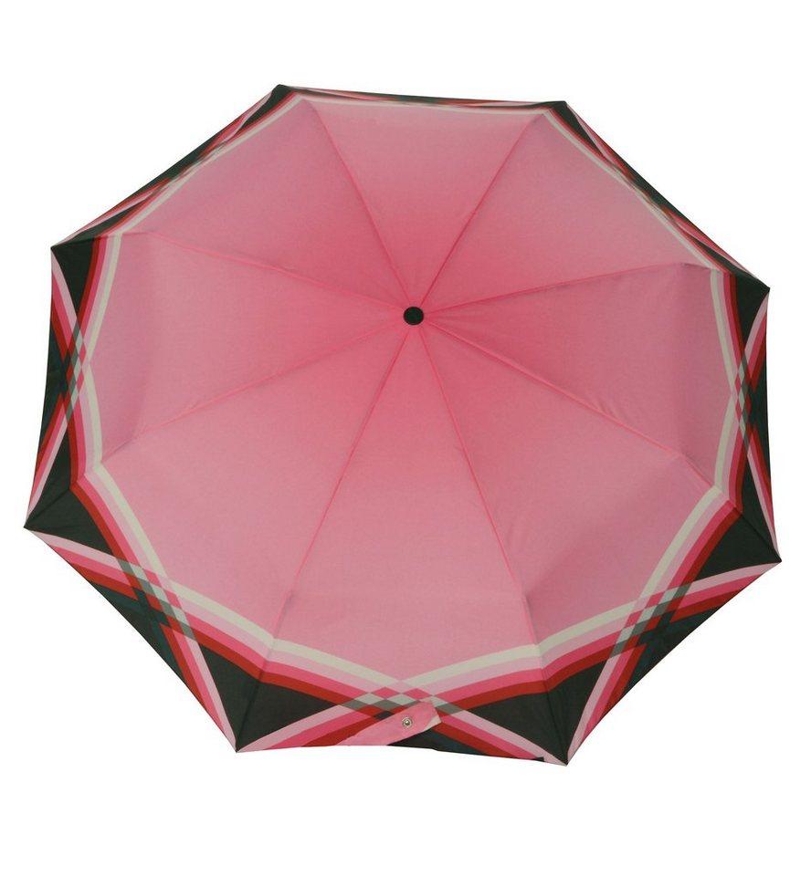 Doppler Regenschirm, Taschenschirm »CARBONSTEEL - Cross Over« in pink
