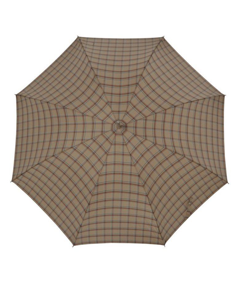 Doppler Regenschirm, Langschirm beige »Carbonsteel Karo« in beige