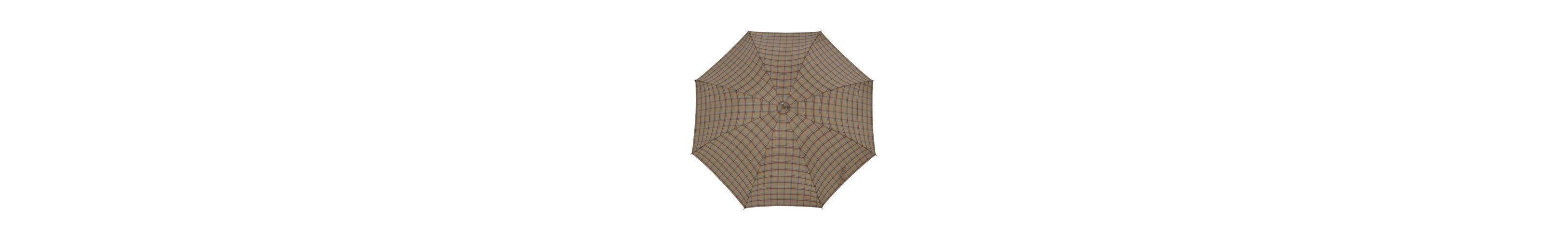 Doppler Regenschirm, Langschirm beige »Carbonsteel Karo«