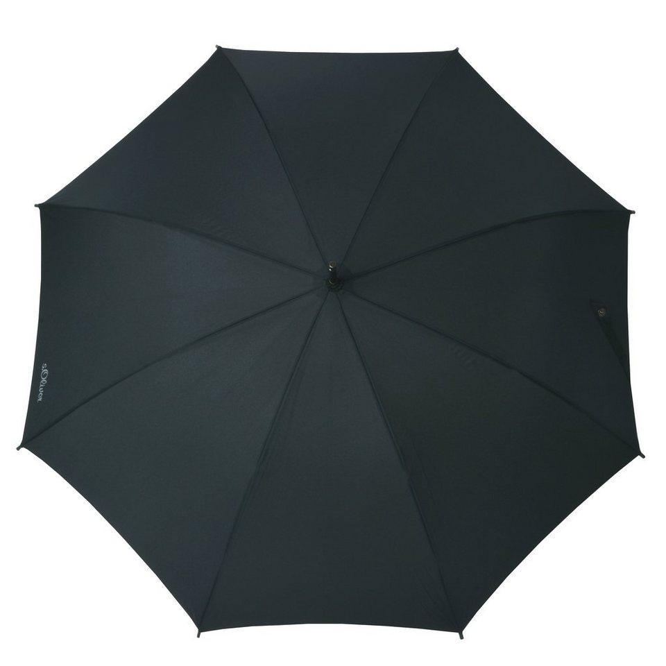 s.Oliver Regenschirm, »Langschirm City AC« in schwarz