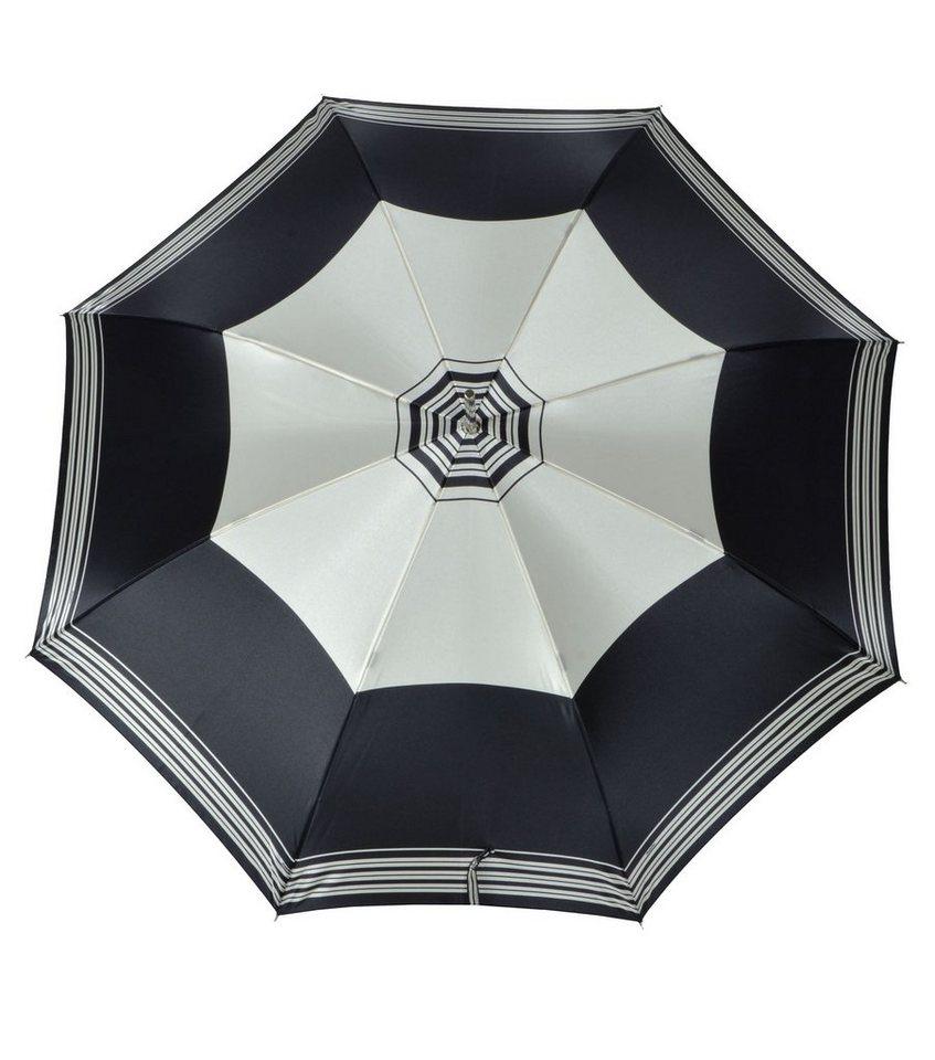 Doppler Regenschirm mit Streifen, Langschirm »Carbonsteel Imperial« in schwarz