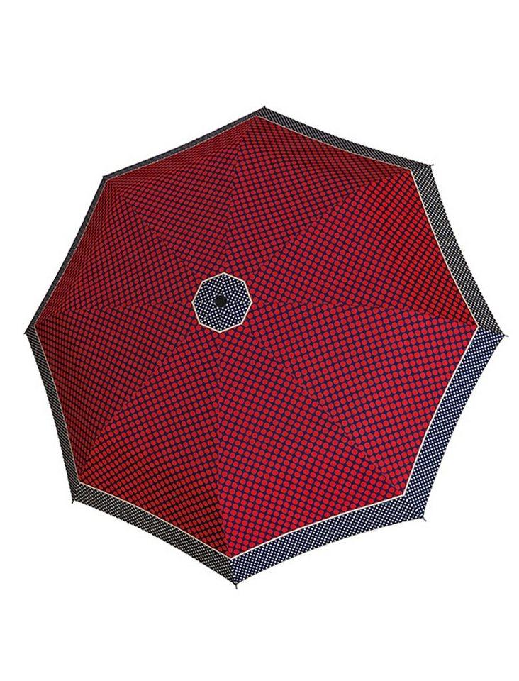 Doppler Regenschirm, Taschenschirm rot »Magic Carbonsteel Sparkling« in rot/blau
