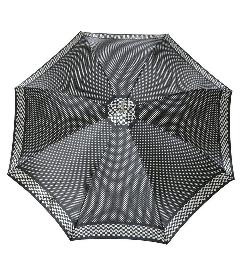 Doppler Regenschirm mit Pepitamuster, Langschirm »Carbonsteel Imperial« in schwarz