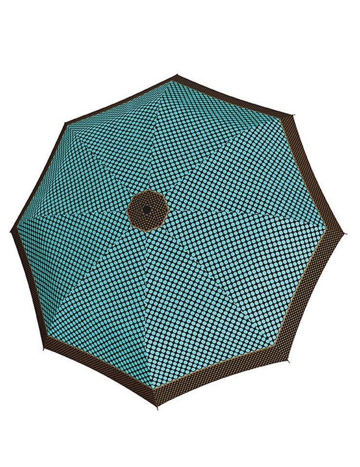 Doppler Regenschirm, Taschenschirm grün »Magic Carbonsteel Sparkling« in blau/braun